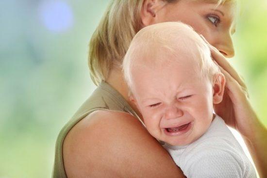Сильный плач