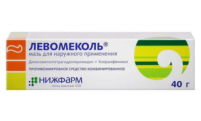 Левомеколь чаще всего применяют при появлении гноя для вывода экссудата и предотвращения инфицирования