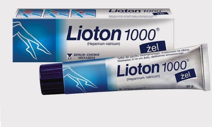 Лиотон разжижает кровь, устраняет воспаление и боль, препятствует тромбообразованию. Подходит для компрессов