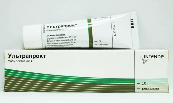 Мазь Ультрапрокт обеспечивает выраженный противовоспалительный, противоотечный и анестезирующий эффекты