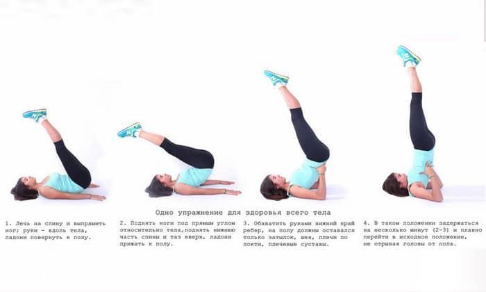 Полезным упражнением для пациентов с геморроем является «Березка»