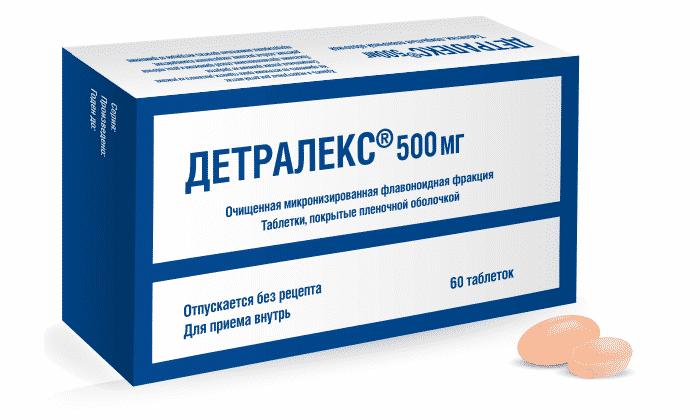 Укрепление тонуса прямокишечных вен достигается посредством флеботонических препаратов, например, Детралекса