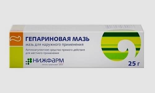 При обширном патологическом процессе во время острого периода следует использовать Гепариновую мазь