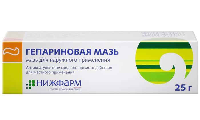Тромболитическое действие оказывает гепариновая мазь