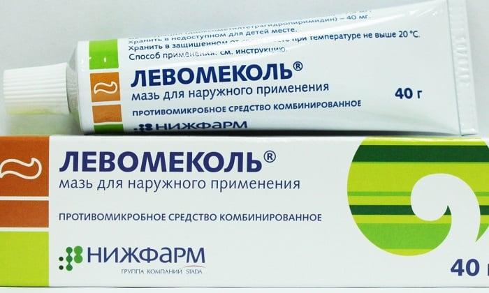 Бактерицидные средства, например, Левомеколь предотвращает развитие воспаления