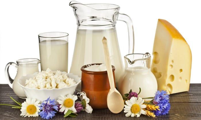 Кисломолочные продукты также включаются в рацион