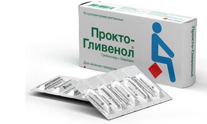 Прокто-Гливенол назначают при обострении болезни, выпадении геморроидальных узлов из ануса