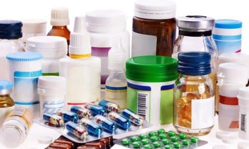 При легкой форме заболевания назначаются лекарственные препараты