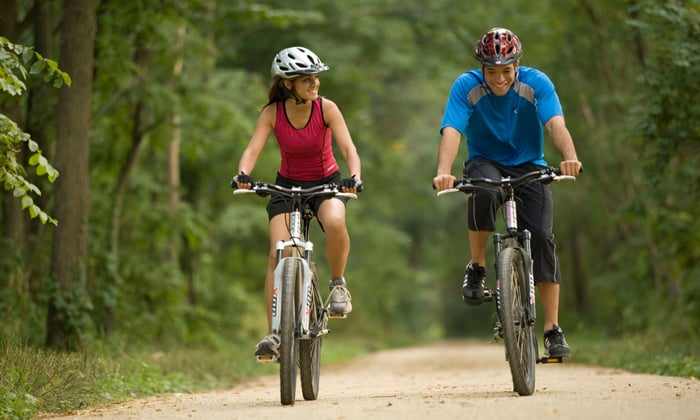 Под запретом езда на велосипеде