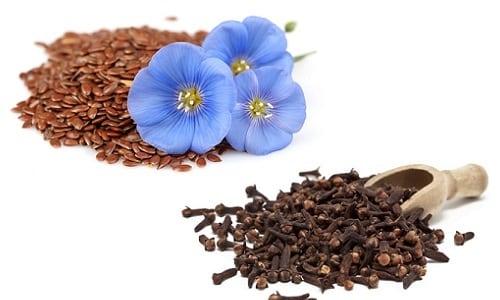 Семена льна и гвоздика являются антигельминтным средством от ленточных глистов, а также остриц и аскарид