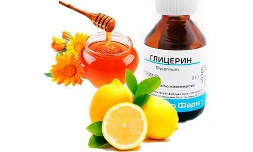 Эффективным при терапии кашля у детей и взрослых является состав из глицерина, меда и лимона