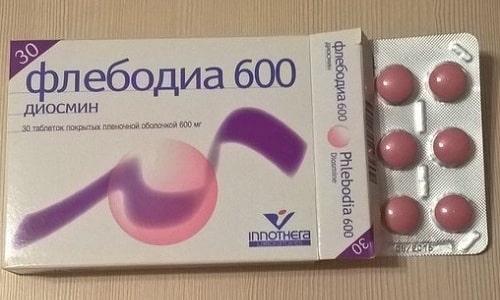 Флебодиа 600 нормализует тонус периферических сосудов
