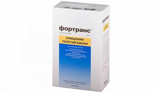 Препарат Фортранс, который хорошо очищает кишечник, растворяют в 1 л воды и делят на несколько частей