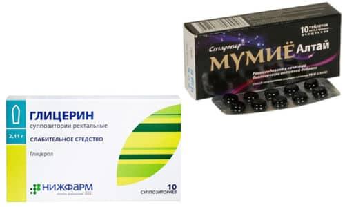 В косметологии и фармацевтической промышленности широко используются глицерин и мумие